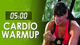 getlinkyoutube.com-5 Mins Fat Burner Cardio Warmup - Easy At Home Workout - Bipasha Basu Love Yourself