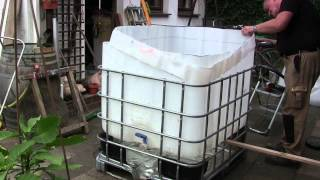 getlinkyoutube.com-Pool Bau aus einem 1000 l IBC  Tank Container