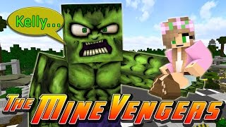 getlinkyoutube.com-Minecraft MineVengers - LITTLE KELLY & THE MINEVENGERS vs THE HULK!!!