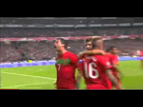 Cristiano Ronaldo Free Kick Goal Portugal vs Bosnia Euro 2012 Qualification 11/15/11