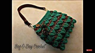 getlinkyoutube.com-CROCHET How To #Crochet Crocodile Stitch Handbag Purse TUTORIAL #354