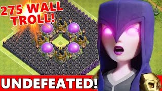getlinkyoutube.com-WORLDS FIRST 275 WALL TROLL BASE!?! UNDEFEATED TH10 TROLL BASE! | Clash Of Clans New Trolling