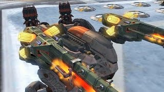 getlinkyoutube.com-War Robots [2.4] Test Server - NEW Light/Medium/Heavy Robots Gameplay