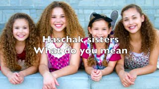 getlinkyoutube.com-Haschak Sisters - What Do You Mean Lyrics