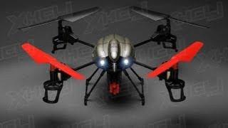 getlinkyoutube.com-V989 Future BattleShip Gatling Machine Gun Quadcopter