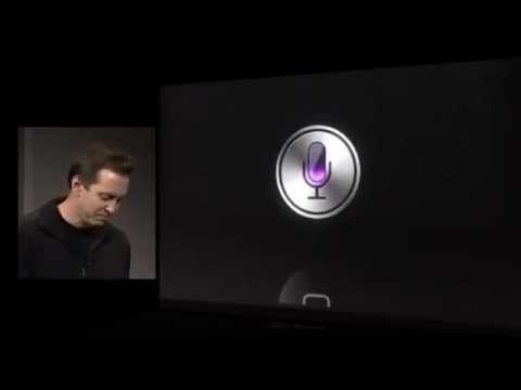 IPhone 4S SIRI LIVE demo 1st look october 2011 keynote