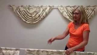 getlinkyoutube.com-How to hang 3 swags with jabots on a double curtain rod
