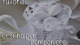getlinkyoutube.com-Tutorial bomboniere Cestino Uncinetto (Crochet) 1/5