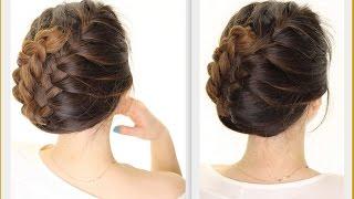 getlinkyoutube.com-★ 5-Minute French BRAID Updo   Easy Summer HAIRSTYLES