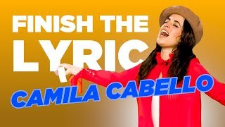 Camila Cabello COMPLETELY NAILS 'Finish The Lyric'