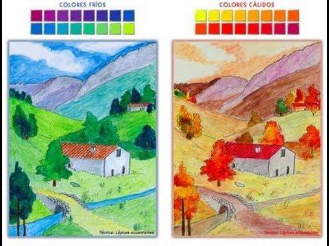 Como pintar paisajes con temperas - Imagui
