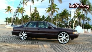 "getlinkyoutube.com-DCM 1996 Impala SS on 26"" Intro Billet Wheels; 6.0 LS, BEACH Scene & CRUISING Highway - HD"