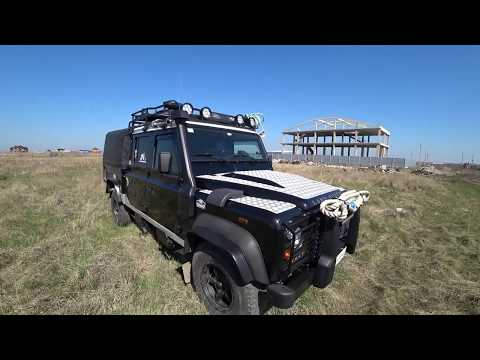 Краткий обзор автомобиля Land Rover Defender 130 Ленд Ровер Дефендер 2013 года