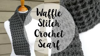 getlinkyoutube.com-How To Crochet the Waffle Stitch Scarf, Episode 345