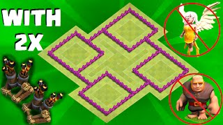 getlinkyoutube.com-Clash of Clans BEST TH6 WAR BASE! 2 AIR DEFENSES! (Town Hall 6 War/Trophy Base) Anti Everything