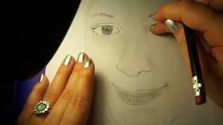 getlinkyoutube.com-♡ASMR Drawing HeatherFeather!! Whisper & Gum♡