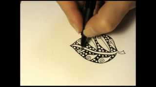 getlinkyoutube.com-Nature zentangles: Leaf #1