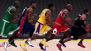 getlinkyoutube.com-NBA 2K17 Speed Test - All Positions (PG/SG/SF/PF/C) Fastest Historic Players In NBA 2K17