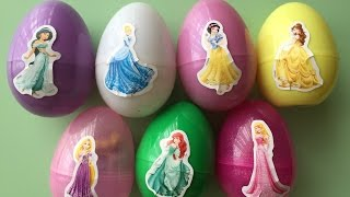 getlinkyoutube.com-Surprise Eggs, Toys Include Princess Cinderella Princess Belle Princess Rapunzel Princess Ariel ...