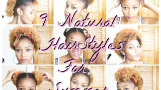 getlinkyoutube.com-How To: 9  Summer Hairstyle for Natural Hair | Quick and Easy