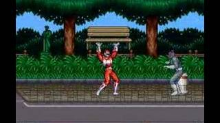 Mighty Morphin&#8217 Power Rangers Snes Area 1