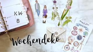 getlinkyoutube.com-Filofaxing Wochendeko KW 8 | Plan with me | deutsch | planenaufpapier