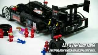 getlinkyoutube.com-Lego Technic Motorized Peugeot 908 HDi FAP