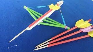 getlinkyoutube.com-Как сделать бумажный арбалет   творческий игрушки