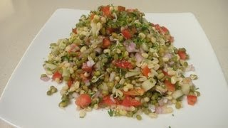 getlinkyoutube.com-Sprouted Moong Chaat | Chef Alyona
