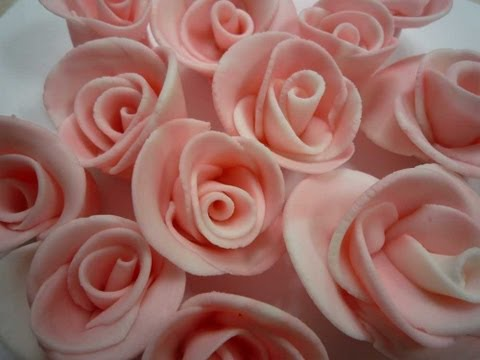 Fondant-Rosen selber machen/How to make Fondant Roses