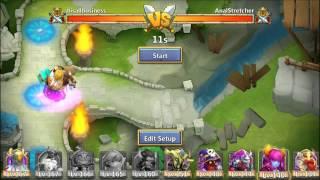 getlinkyoutube.com-Castle Clash Rank 1 iOS Player Taking Rank 1 in Arena