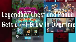 getlinkyoutube.com-Clash Royale - Legendary Chest and Panda 1-1 Double Draw in Overtime