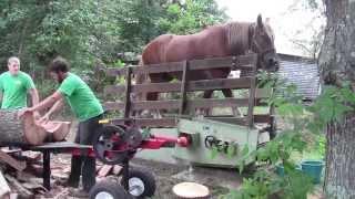 getlinkyoutube.com-A 1 Horse Power Log Splitter