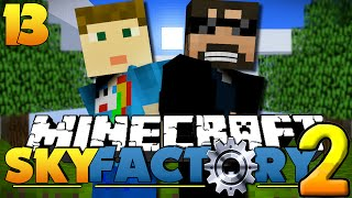 Minecraft SkyFactory 2 - END PORTAL COMPETITION! [13]