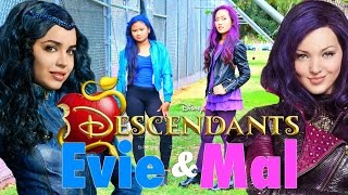 getlinkyoutube.com-DIY Halloween Costumes: Disney's Descendants Mal & Evie: Makeup, Hair, and Costume 2015!!