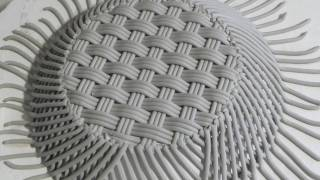 getlinkyoutube.com-MAKING A HANDWOVEN HILLGROVE PORCELAIN BASKET CAHIRCIVEEN IRELAND