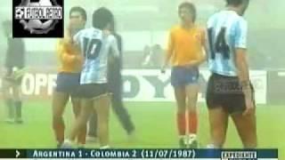 getlinkyoutube.com-Argentina 1 vs Colombia 2 Copa America Argentina 1987 FUTBOL RETRO TV
