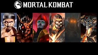 getlinkyoutube.com-Bosses Defeated: Mortal Kombat 1 to Mortal Kombat X (Update)
