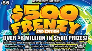 getlinkyoutube.com-Huge Winner! $200,000 Jackpot! $500 Frenzy Instant Lottery Scratch Off Ticket #93