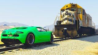 getlinkyoutube.com-RACE THE TRAIN! (GTA 5 Funny Moments)