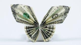 getlinkyoutube.com-Money Gift Idea: Butterfly, dollar bill origami tutorial, easy!