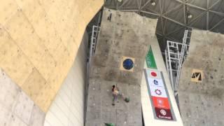 getlinkyoutube.com-JOC 2015 ジュニアオリンピック FINAL 白石阿島選手 完登