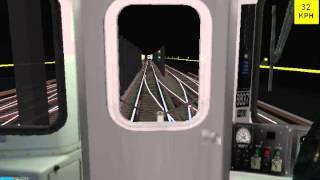 getlinkyoutube.com-OpenBVE: R142 (8) Train (25st to Highbridge)