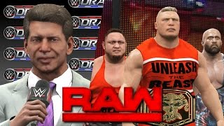 WWE RAW 2K17 Story - Draft Lottery Returns & Booker T Gets Fired!   20/03/17