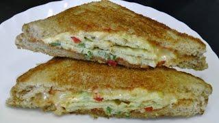 getlinkyoutube.com-Omelette Sandwich - Quick & Easy Breakfast recipe