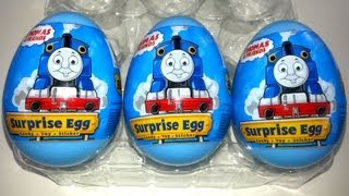 getlinkyoutube.com-3 Thomas & Friends Surprise Eggs Unboxing