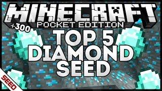 getlinkyoutube.com-0.15.0/0.16.0 TOP 5 DIAMOND SEED +300 ORES! MINECRAFT POCKET EDITION