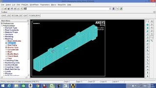 getlinkyoutube.com-RC beam with ANSYS 15.0 part 1-2