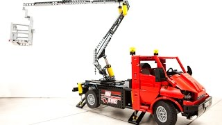 getlinkyoutube.com-LEGO Technic - Aerial Platform Truck (cherry picker)