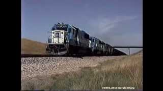 getlinkyoutube.com-Burlington Northern/Chicago Northwestern In The Powder River Basin, WY -1991